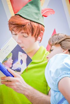 Peter and Wendy with his book