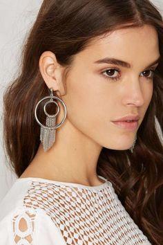 Thrown for a Hoop Fringe Earrings - Jewelry