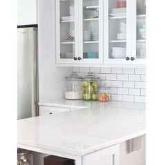 Trendy Kitchen Backsplash With Dark Cabinets Subway Apartment Therapy Ideas Kitchen On A Budget, Kitchen Redo, New Kitchen, Kitchen Dining, Kitchen Cabinets, Dark Cabinets, Kitchen Backsplash, Kitchen Counters, Subway Backsplash