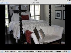 Master bedroom with kilim pillow