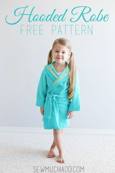 Sew a child's robe with this Hooded Robe Free Pattern! Sized 3/4T, your little one will love to cuddle up in his or her new cozy robe!