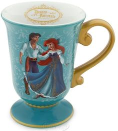Disney Fairytale Designer Collection Little Mermaid Ariel and Eric Mug Cup & NEW