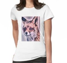 'Realistischer Fuchs ' T-Shirt von Wolfteamshop T Shirts For Women, Hoodies, People, Shopping, Tops, Fashion, Women's T Shirts, Moda, Sweatshirts