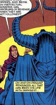 Yuga Khan,father of Darkseid,talks with Desaad