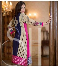 Plush Embroidered Kurti Collection 2015 Vol-1 by Riaz Arts EK-10