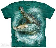 Crocodile Splash T-shirt  Het The Mountain Crocodile Splash t-shirt is gemaakt op basis van een handgekleurd Tye Dye T-shirt gemaakt van 100% Katoen.  EUR 29.95  Meer informatie