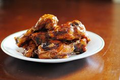 honey ginger chicken wing...would be good with a little heat added