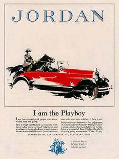 Jordan I Am The Playboy Cleveland Ohio - Mad Men Art: The 1891-1970 Vintage Advertisement Art Collection