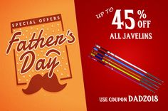 Father's Day sale up to 45% off?? Find the perfect Javelins for Dad this Father's Day at Track And Field gear