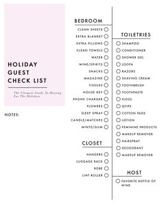 Emily Henderson's Ultimate Hostess Holiday Check List