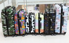 Luggage Hardside Travel Suitcase 4 Wheels Spinner Trolley Carry On Bag ABS PC  #Focheir