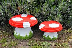 ~~~~~~i think we can guess how these are made~~~~~Garden mushrooms