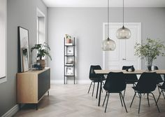 Room & Board - Aria Table with Marie Leather Chairs Large Table, A Table, Sideboard Dekor, Small House Interior Design, Gravity Home, Home Decor Kitchen, Minimalist Kitchen, Living Room Decor, Dining Room