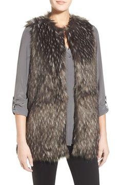 Trouvé Long Faux Fur Vest available at #Nordstrom