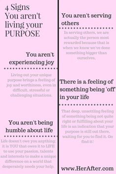It's time to live your life's purpose! But what if you're not sure what your purpose is! Check out this incredible article on knowing if you're living your life's purpose from HerAfter.com. Click to read