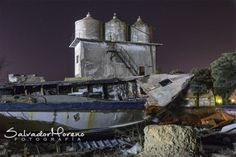 Poblado marinero. Sancti Petri, Chiclana, Cádiz.Foto: Salvador Moreno #photo  #Nocturna