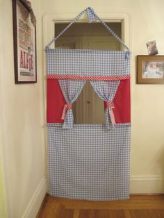 Doorway Puppet Theater! - Leah Smiths Blog - Alameda, CA Patch... I like the gingham and colours on this one.