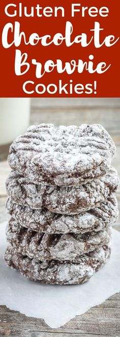 Unbelievably Tasty Gluten Free Brownie Cookie Recipe with lots of chocolate that your family will love, and with no brownie pan to clean, make them TODAY!