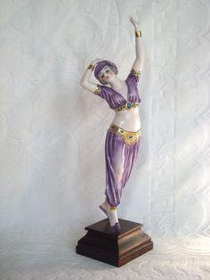 Rare Antique Dressel & Kister Dancing Harem Lady Figurine