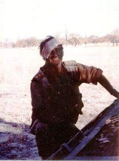 A man who stands head and shoulders above men. Col Jan Breytenbach seen here after been blown clear from his vehicle when it hit a anti tank land mine whilst on operations in southern Angola on the 29th August 1981. Col Breytenbach immediately returned to rescue Dave Barr, his gunner, who was pinned under the vehicle - a special forces 'Sabre' - and pulled him free from exploding ammunition and burning fuel. Dave Barr, an American serving with the SADF unfortunately lost both legs in the inc Head Wound, Land Mine, South African Air Force, Army Day, Defence Force, Head & Shoulders, Boat Design, Many Faces, My Heritage