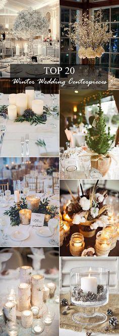 20 perfect winter wedding centerpiece ideas