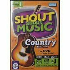Shout About Music Country Edition DVD New Party Game - Parker Brothers Ages 13+