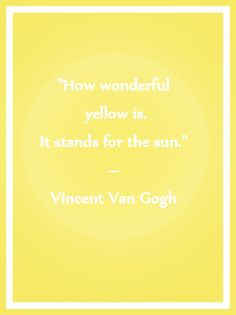 Vincent Van Gogh had an epileptic condition caused by brain lesions. The prescription drug that he used to treat this with can cause one to see in yellow or with yellow spots. This may offer some understanding behind his obsession with the color yellow, or at least introduce some logic towards his obsession.