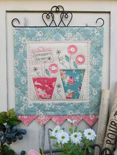 Beekeeper's Garden by Sally Giblin of The Rivendale Collection. www.therivendalecollection.com.au Stitchery, appliqué and patchwork patterns. #TheRivendaleCollection
