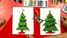 Follow along with us and learn how to draw a Christmas tree. We'll also show you how to color it and make it look super amazing :)