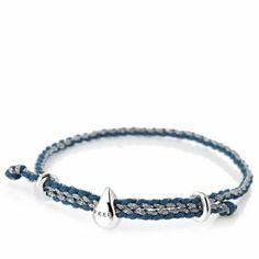 Links of London FEED Cord Bracelet Sterling Silver - Water