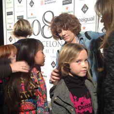 Catwalk at 080 Barcelona Fashion. Kids getting ready!