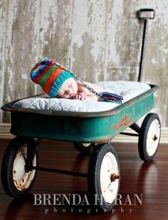 RAiNBoW Stripe NeWBORN Boy Girl Baby HaT PHoTO PRoP Fashion Conscious Unigender TaSSeL CaP Pick Colors KNiT to ORDeR Take Home Toque. $32.00, via Etsy.