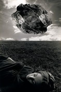 © JERRY UELSMANN, Untitled (Magritte's Touchstone), 1965, as featured by @The Wall Street Journal
