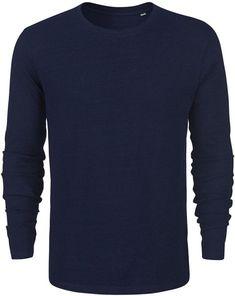 6134dfb399f Langarmshirt Biobaumwolle - dark washed indigo