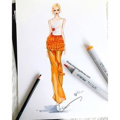 Fashion illustration of Dior Couture by Rongrong DeVoe. More fashion illustrations at www.rongrongdevoe.com #diorcouture