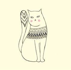 Resultado de imagem para cute cat illustrations