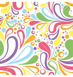 Colorful summer seamless pattern with floral vector 1274628 - by Yuzach on VectorStock�