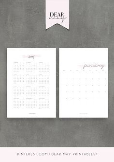 2019 Monthly Calendar Printable ⋆ 2019 Calendar ⋆ 3 Colours ⋆ Minimalist Design ⋆ Cute calendar pages ⋆ Annual Overview ⋆ Instant Download ⋆ Dear May Printables Cute Calendar, Calendar Pages, Calendar Design, Cards Against Humanity, Printables, Etsy, Print Templates