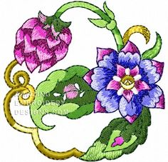 This free embroidery design is a gorgeous flower. Don't miss this one!