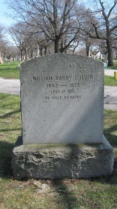 Bajo Cada Tombstone: perdido en el mar EN LA VILLE DU HAVRE - William Barry Culver-WILLIAM BARRY CULVER  1862-1873  Perdido en el mar  En Ville du Havre