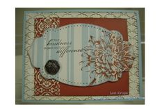 Blooming with kindness from Stampin Up.  Love the stamping on printed paper. Must try.  Garage Girl Stampin