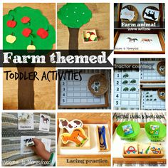 Montessori Inspired Farm activities for toddlers by Welcome to Mommyhood #montessori #farmactivities