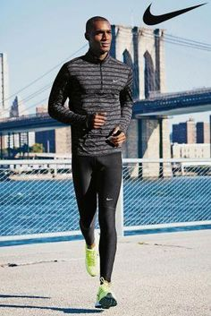 Nike Grey Element Stripe Half Zip from Next Sport Tights, Mens Tights, Nike Outfits, Sport Outfits, Sport Fashion, Look Fashion, Running Pants, Running Workouts, Workout Men