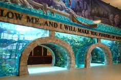 CHURCH:  Inspiring Body of Christ Church in Dallas, Texas, spent over 4 million dollars on a private fish aquarium.