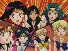 Sailor Scouts Sailor Jupiter, Sailor Venus, Sailor Mars, Sailor Scouts, Princesa Serenity, Sailor Moon Screencaps, Best Heroine, Sailor Moon Aesthetic, Sailor Moon Manga