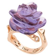 This delicate ring is crafted from rose gold, amethyst and diamond by Dior Joaillerie