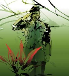 """""""Big Boss"""" concept art from Metal Gear Solid 3: Snake Eater 