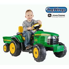 "Shawn- John Deere Turf Tractor with Trailer -  Peg Perego - Toys""R""Us"