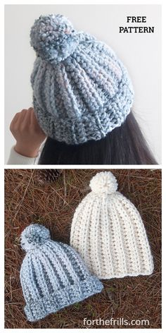 Most recent Images chunky Crochet Hat Ideas Beginner Easy Chunky Beanie Hat Free Crochet Pattern + Video Chunky Crochet Hat, Crochet Adult Hat, Crochet Cap, Crochet Baby Hats, Free Crochet, Crocheted Hats, Crochet Clothes, Beanie Pattern Free, Crochet Beanie Pattern