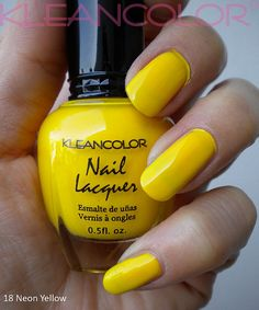 kleancolor neon yellow